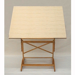 "Wood Pedestal Drawing Table - 24"" x 36"" Wood Top"