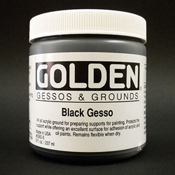 Golden Acrylic Black Gesso