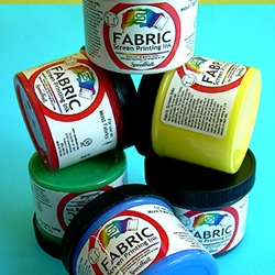 Speedball Fabric Screenprinting Starter Set (Six Jars of Screenprinting Ink)
