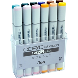 COPIC Sketch Markers Set of 12 Extra Colors 2