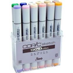 COPIC Sketch Markers Set of 12 Extra Colors 3