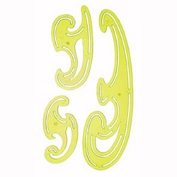Alvin Fluorescent French Curve Set of 3