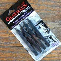 Generals Compressed Charcoal Sticks - Square Assorted