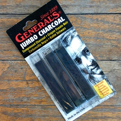 Generals Compressed Charcoal Sticks - Rectangular Assorted
