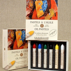 Sennelier Oil Pastel Set Introductory Set of Six Colors