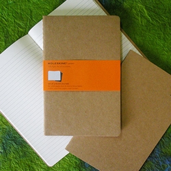 Moleskine Kraft Cover - Set of 3 Ruled Journals 5x8-1/4 Inches