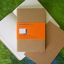 Moleskine Cahiers Kraft Cover - Three 3.5 x 5.5 Inch Ruled Journals