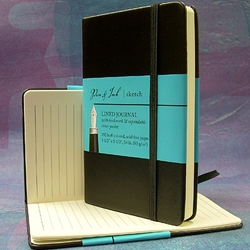 Pen & Ink Lined Journal and Sketch Book - 3-1/2x5-1/2 Inch