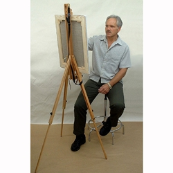 Portable Wooden Artist's Easel with Travel Case