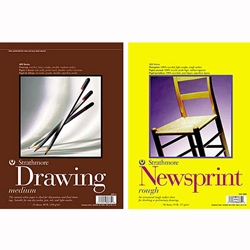 Strathmore 18x24 Inch Drawing & Newsprint Pad Value Pack