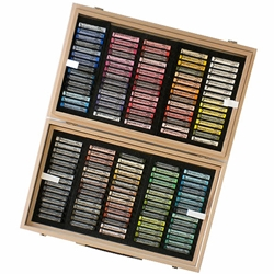 Rembrandt Pastel Set - 150 Piece Full Stick General Assortment in a Wood Box
