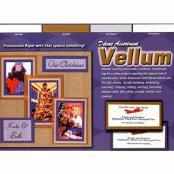 "Deluxe Assortment Vellum Pad 12""x12"""