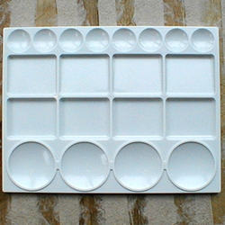 Large Rectangular 20 Well Plastic Palette