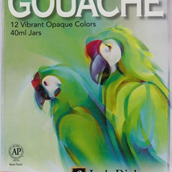 Jack Richeson Gouache Opaque Watercolor - Set of 12 Jars
