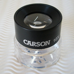 Carson LumiLoupe 10X Magnifier with Snap-On Reticle