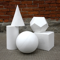 Plaster Castings - Set of Five Geometric Shapes