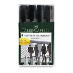 Faber Castell - Pitt Big Brush Pens - Cool Grey Set of 4