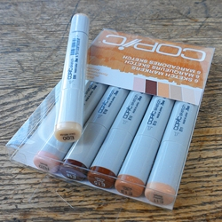 COPIC Set of 6 Sketch Markers - Skin Tones