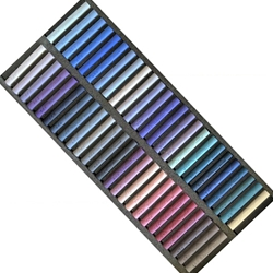 Girault Soft Pastel Sets - Blues and Violets Set - Set of 50 Pastels