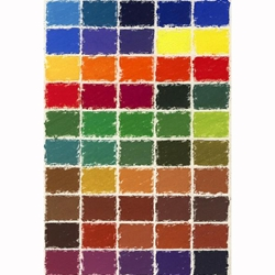 Girault Soft Pastel Sets - Brilliant Colors Set - Set of 50 Pastels