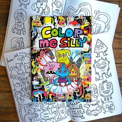Color Me Silly Coloring Book by Jon Burgerman
