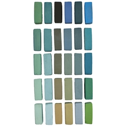 Terry Ludwig Pastels Set of 30 Cool Greens