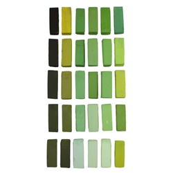 Terry Ludwig Pastels Set of 30 Warm Greens