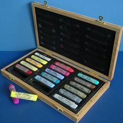 Jack Richeson Handmade Soft Pastels Assorted Set of 18 - In a Black Box