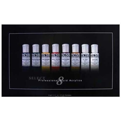 Golden Fluid Acrylics 8-Color Set of .5oz Bottles