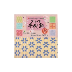 "Print Chiyogami - Pack of 300 Sheets - 3"" Square"