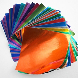 Foil Origami Multi Pack - Mini 100 Sheet Pack 7.5cm