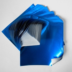 "Foil Origami Paper - Blue 3.5"" Square 100 Sheets"