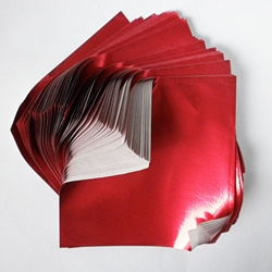 "Foil Origami Paper - Red 3.5"" Square 100 Sheets"