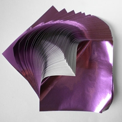 "Foil Origami Paper - Grape 12"" Square 24 Sheets"