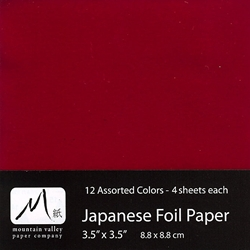 "Foil Origami Paper - Assorted Colors 3.5"" Square 48 Sheets"