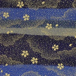 Flowers Falling Against Night Sky - Chiyogami Paper