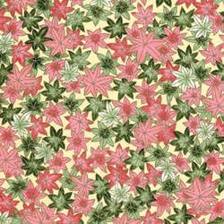 Pink & Green Leaves - Chiyogami Paper