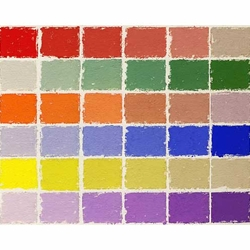 Great American Pastels - Color Wheel Assortment - 36 Handmade Soft Pastels