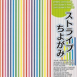 Stripe Chiyogami Origami Paper