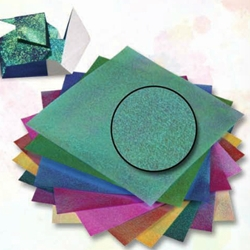 Iridescent Origami Paper- Dotty Embossed