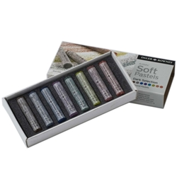 Daler-Rowney Soft Pastels - Dark Selection Set of 8