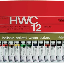 Holbein Artists' Watercolor 12 Color 15ml Set