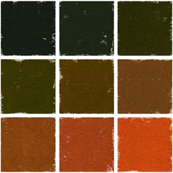 Roche Pastel Values Sets of 9 - Orange Brown 2140 Series