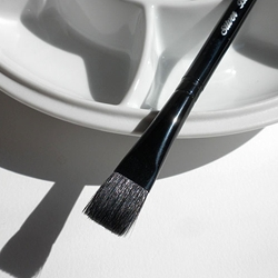 Silver Brush Black Velvet Brushes - Square Wash
