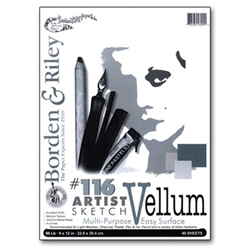 Borden & Riley #116 Artist Sketch Vellum Pads