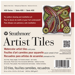 "Strathmore Artist Tiles - Watercolor Pad - 6""x6"" 10 Tiles"
