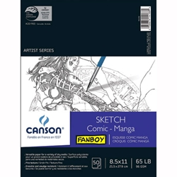 "Canson Fanboy Comic and Manga Sketch Pad - 8.5""x11"" 50 Sheet Pad"