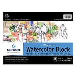 Canson Montval Watercolor 140 lb Cold-Pressed Blocks