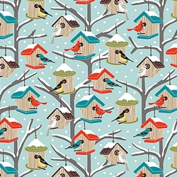 Winter Birdhouses Wrapping Paper