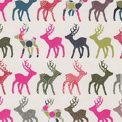 "Holiday Paper & Wrap - Multicolor Reindeer Rows 20""x27"" Sheet"